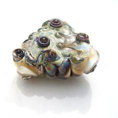 Ancient Magic Heart Spear handmade lampwork heart bead by Genea