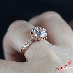 WanLove Designs Lotus Flower Diamond Ring, $599   45 Engagement Rings Inspired By Disney Princesses