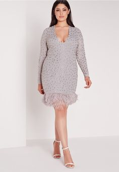 Statement dresses are what we're all about here at Missguided and we're totally girl crushin' on this grey beaut! With embellished detailing all over in greys and silvers, this long sleeve mini dress is the perfect addition to your collecti...