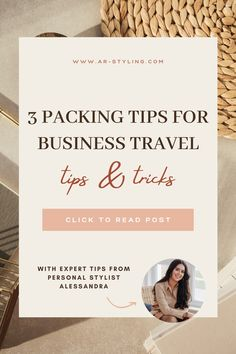 3 simple PACKING TIPS for female business leaders, female entrepreneurs and women that are always on the go for business travel! Pack for success and have clothes that you can mix and match efficiently. I am a Personal Stylist for boss babes that are looking to elevate their style and transform their wardrobe. I provide practical style, wardrobe and shopping tips designed for ambitious working women in mind! Learn how to dress for success. Find more info about me on IG at @alessandraremy.styling Business Leaders, Business Travel, Business Women, Wardrobe Organisation, Organisation Hacks, Shopping Tips, Dress For Success, Office Style, Working Woman