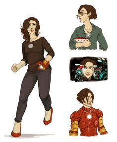 felixandria:  for sparklemagpie, who commissioned me to do fem!tony stark I POUNCED ON THE OPPORTUNITY and got very carried away, please click for details i love her bye
