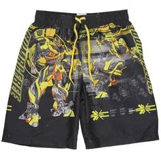 Transformers Bumblebee Boys Swim Shorts      Sizes 4 5/6 7     Made From 100% Polyester     Label Transformers     Officially Licensed Transformers Apparel