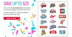 Print up to $25 in Kellogg's Coupons & More!