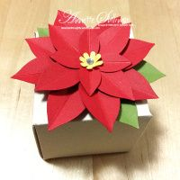 Lavender Thoughts   Annette Sullivan   Stampin' Up! Real Red Festive Flower Builder Poinsettia