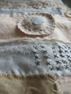 Cathy Cullis... and her hand stitching, so rustic and organic - I love her style