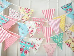 wedding decoration on sale at reasonable prices, buy 12 Flags colorful fabric flags bunting Pennant party decoration banner christmas party supplies events wedding decoration from mobile site on Aliexpress Now! Tissu Style Shabby Chic, Shabby Chic Stoff, Tela Shabby Chic, Shabby Chic Bunting, Shabby Chic Fabric, Fabric Garland, Bunting Garland, Fabric Bunting, Bunting Pattern