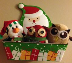 Owly and friends are excited about Christmas. Day 337 of #yearofowly #lifeofowly
