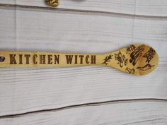 Kitchen Witch Decorative Spoon Set of 3, Moon Phases, Witch, Wooden Spoon, Cauldron, Trifecta, Broom, Magick, Woodburning, Pagan, WiccaHandcrafted Bamboo Large Wooden Spoon - Kitchen Witch - Pagan Wicca Gift - Witch- Magick The spoons measure approximately 11.75 inches long & approximately 2.5 inches wide, no two spoons are alike.Each Spoon is handcrafted & might differ slightly due to the nature of the wood. Wicca, Magick, Pagan, 3 Moon, Moon Phases, Magic Store, Kitchen Witch, Cauldron, Woodburning
