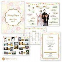 写真がメインのデザイン✨  フルオーダーメイドの招待状・席次表&プロフィールブック*toiro wedding