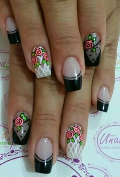 Nails Cute Nail Art, Cute Nails, Pretty Nails, Hair And Nails, My Nails, Nancy Nails, Summer Holiday Nails, Finger, Flower Nail Art