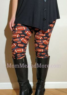 Women's Super Bowl Leggings Best Quality Mommy and Me Outfits – MomMe and Plus Size Leggings, Best Leggings, Women's Leggings, Leggings Are Not Pants, Dress With Cardigan, Dresses With Leggings, Mommy And Me Outfits, Layering Outfits, Matching Outfits