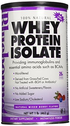 Whey Protein Isolate Strawberry by Bluebonnet 1 lbs Powder Whey Protein Isolate Strawberry 1 lbs Powder Product Bluebonnets 100 Natural Whey Protein Isolate is sourced from grass-fed cows that are not. Whey Protein Isolate, Protein Diets, Natural Whey Protein, Protein Meal Replacement, Growth Hormone, Low Cholesterol, Mixed Berries, Blue Bonnets, Diet And Nutrition