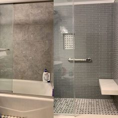 Bathtub conversion to shower stall (w/ floating bench) Code Project, Residential Contractor, Next At Home, Conversation, Bench, Bathtub, Construction, Shower, Projects