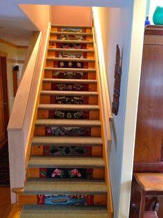 Rug Hooked Stair Risers Wool Rugs Rug Hooking Rug