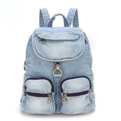 Check lastest price travel backpacks denim bag for women girls shoulder bag Vintage Women Bag school backpacks teenage girls backpack campus bags just only $38.49 with free shipping worldwide  #womanbackpacks Plese click on picture to see our special price for you