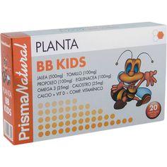 Planta BB Kids - immunerősítő és vitalizáló készítmény gyermekek számára! Komplex immunerősítő és vitalizáló készítmény gyermekek számára mely magában foglalja a méhpempő energia dús összetevőit, C, D, és E-vitamint, a magas szénhidrát-, fehérje- és antitest tartalmú kolosztrumot, az immunerősítő hatású propoliszt, kakukkfű- és bíborkas-kivonatot, a csontok egészséges fejlődéséhez nélkülözhetetlen kalciumot, valamint B5, B6, B2, B1, és B12-vitamint…