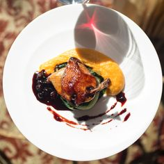 Roasted Squab, Pureed Butternut Squash, Huckleberry Reduciton from ...