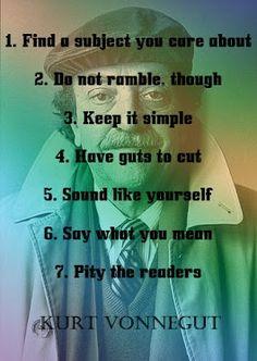 Vonnegut's rules