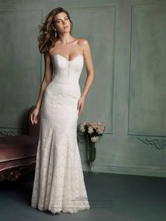Nice simple strapless lace wedding dresses 2018/19 Check more at http://newclotheshop.com/dresses-review/simple-strapless-lace-wedding-dresses-201819/