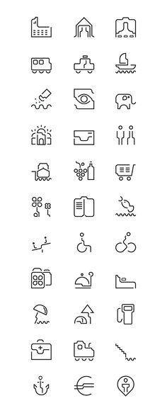 icon set - Braila city on Behance