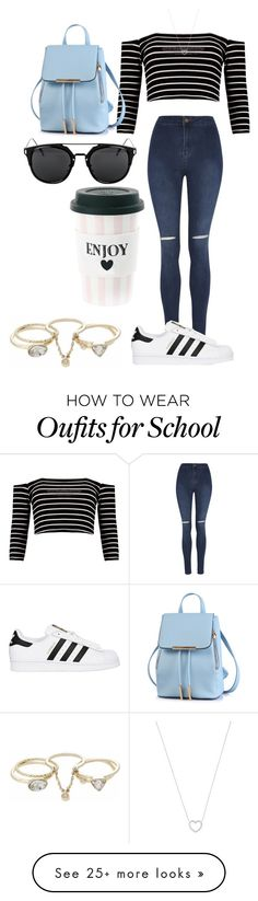 """""""School"""" by desdall on Polyvore featuring George, adidas Originals, Tiffany & Co. and Lipsy"""