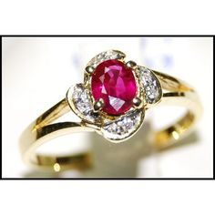 http://rubies.work/0401-sapphire-ring/ Wedding Ruby Diamond 18K Yellow Gold Ring Solitaire by BKGjewels