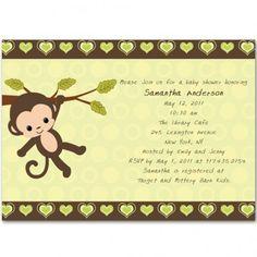 monkey theme invitations