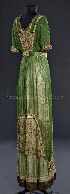 Dress Alternate Name Evening Dress Date ca. 1910    3/4 back view