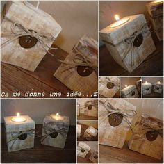 Bougeoir Pieds De Palette / Pallet Blocks Into Candle Holders Candle Holders