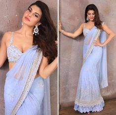Most Stylish Outfits to Steal from Jacqueline Fernandez for your BFF's Wedding Dress Indian Style, Indian Fashion Dresses, Indian Designer Outfits, Designer Dresses, Wedding Dresses For Girls, Indian Wedding Outfits, Bridal Outfits, Saree For Wedding, Wedding Updo