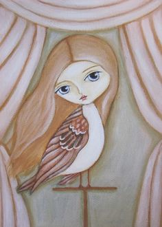 Little Sparrow  Fair Rosamund Art by Lauren Saxton