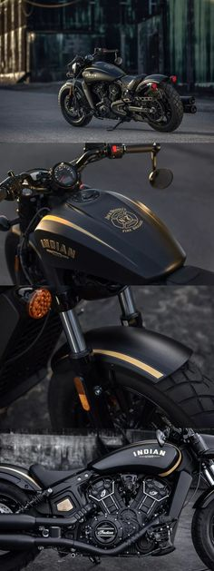 Indian-Scout-Bobber-Jack-Daniels-Edition motorcycles and scooter Model: Power, Mileage, Safety, Colors Brat Bike, Bobber Motorcycle, Moto Bike, Motorcycle Style, Cool Motorcycles, Indian Motorcycles, Kawasaki Motorcycles, Harley Davidson, Indian Motorbike