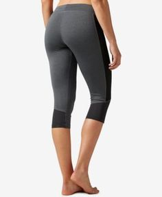 Reebok Workout Ready Colorblocked Capri Leggings - Gray XL