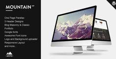 Mountain - One Page Parallax WordPress Theme #themeforest #theme #wordpress #wordpresstheme #layout #design #clean