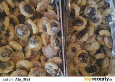 Svatební koláčky jemné recept - TopRecepty.cz Cereal, Stuffed Mushrooms, Muffin, Vegetables, Breakfast, Food, Catalog, Stuff Mushrooms, Morning Coffee