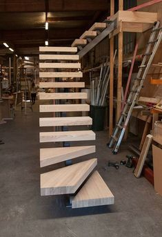 ideas floating stairs design stairways for 2019 Steel Stairs, Loft Stairs, House Stairs, Railing Design, Staircase Design, Stair Design, Building Stairs, Building Plans, Floating Staircase