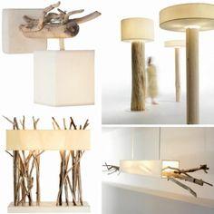 Decora tu hogar con lámparas de madera reciclada - Elegant House