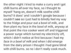 That is the funniest cooking story I've heard
