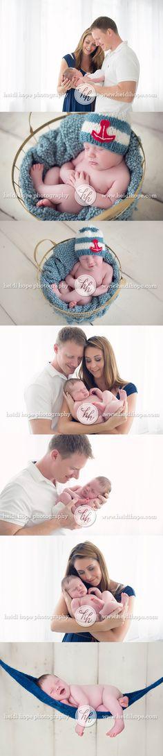 nautical newborn baby boy with family web