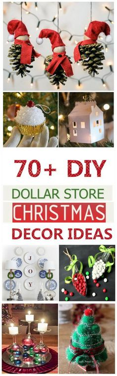 70 DIY Dollar Store Christmas Decor Ideas - For Creative Juice Dollar Tree Christmas, Diy Christmas Ornaments, Diy Christmas Gifts, Christmas Projects, Holiday Crafts, Christmas Wreaths, Christmas Bulbs, Christmas Decorations, Christmas Ideas
