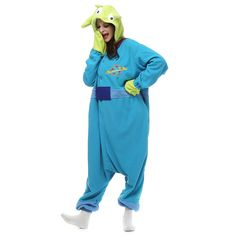 fb5256ba43 Aliexpress.com   Buy Free Shipping Toy Story Alien Onesie Anime Cosplay  Costume Pajamas Adult Party Unisex from Reliable anime cosplay costumes  suppliers on ...