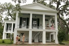 exterior spiral staircase  love the old plantation houses!!!! I am in love with this house!!!!