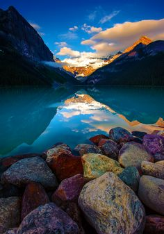 Stone, water, and sky, in perfect harmony
