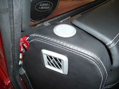 #Landrover # Defender #dashboard covered and padded in a nappa leather with a nice white stitch