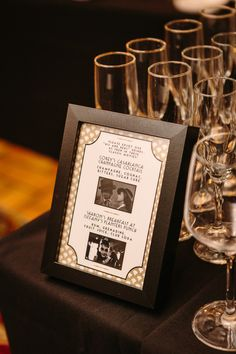 Wedding signature drink done in Old Hollywood theme...