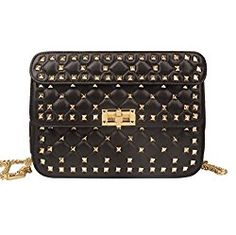 Designer Dupe by Ainifeel: Valentino Rockstud Spike Quilted Top-Handle Bag – $2,795 vs. $109