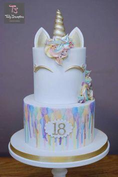 Water colour rainbow cake