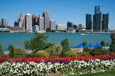 Windsor, Ontario Canada, across the river is a beautiful view of Detroit, Michigan.