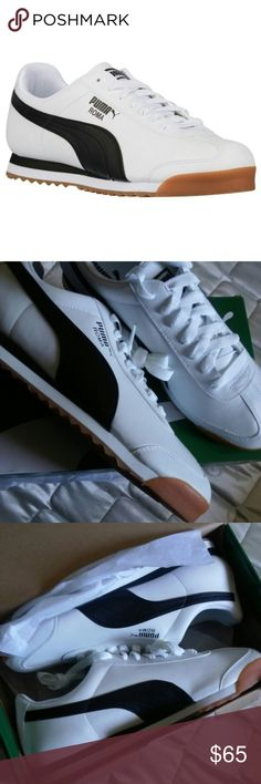 "PUMAS Basic Roma White & Black Casual Shoes ALL ITEMS FOR SALE Limited Supply Only  Size - Mens 11.5  Price $75 or better offer ""SHIPPING NOT INCLUDED""  Brand new in box, never been worn  FOLLOW ME AND CHECK MY PIX Facebook - imau1987@gmail.com Instagram - @mistah_got_it_all Twitter - @eye_got_it_all  ""PAYPAL friendly"" as well Puma Shoes"
