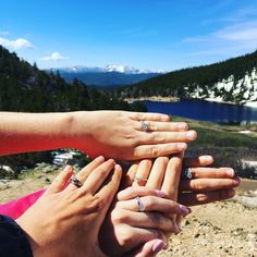 My bachelorette party was a 7 am hiking trip. This was my favorite picture with all my married/engaged friends.